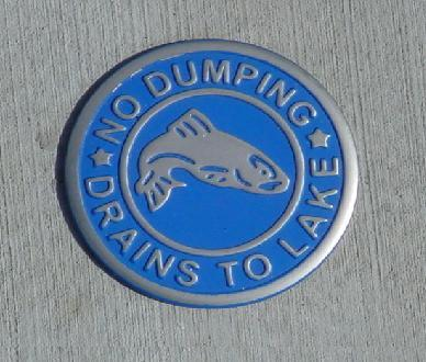 No Dumping - Drains to Lake