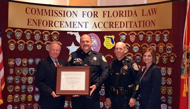 Commission for Florida Law Enforcement Accreditation award presnetation